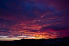 розовый заход солнца Стоковые Изображения