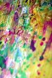 Розовый зеленый оранжевый беж запачкал шаловливые пастельные формы, оттенки пастели конспекта Стоковые Изображения RF