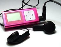 розовый игрок mp3 Стоковое Фото