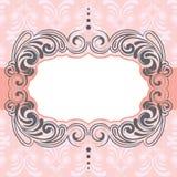 Розовый дизайн рамки Стоковые Изображения RF