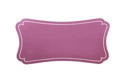 Розовый изолированный знак стоковое изображение