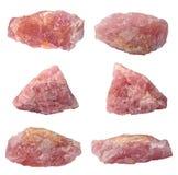 Розовый изолированный кварц стоковое фото rf