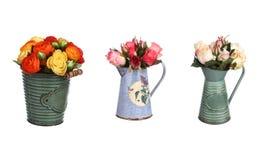 Розовый изолированный комплект оформления цветков Стоковые Изображения