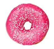 Розовый изолированный донут Стоковое Изображение RF