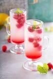 Розовый лимонад поленики в высокорослых стеклах Стоковые Изображения RF