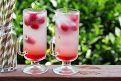 Розовый лимонад поленики в высокорослых стеклах Стоковая Фотография