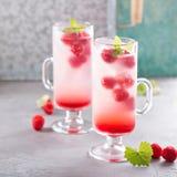 Розовый лимонад поленики в высокорослых стеклах Стоковое Изображение RF