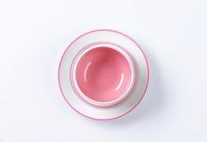 Розовый и белый комплект обедающего Стоковое фото RF