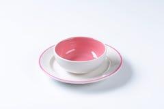 Розовый и белый комплект обедающего Стоковое Изображение RF