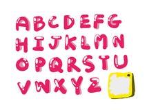Розовый и милый стиль шрифта Стоковое Изображение RF