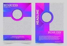 Розовый и фиолетовый дизайн рогульки шаблона брошюры бесплатная иллюстрация