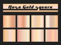Розовый квадрат градиента золота Стоковое фото RF