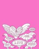 Розовый комплект мандалы Стоковая Фотография RF