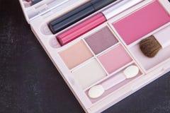 Розовый комплект состава тона Стоковые Фото