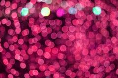 розовый конспект цвета сада нерезкости и света и ночи bokeh красочного стоковое изображение