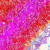 Розовый красный геометрический дизайн текстуры с случайными линиями re треугольников Стоковая Фотография RF