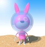 розовый кролик иллюстрация штока