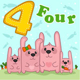 Розовый кролик 4 Стоковое фото RF