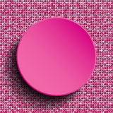 Розовый круг вектора Предпосылка Sequin 10 eps Стоковая Фотография RF