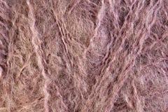 Розовый крупный план макроса шарика потока шерстей Стоковые Изображения RF