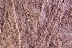 Розовый крупный план макроса шарика потока шерстей Стоковая Фотография