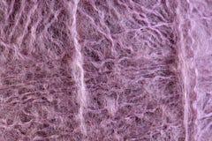 Розовый крупный план макроса шарика потока шерстей Стоковые Изображения