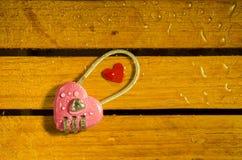 Розовый ключ для всех замков стоковое фото rf