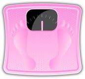Розовый маштаб ванной комнаты Стоковое Фото
