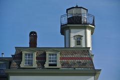 Розовый маяк острова Стоковое Изображение RF