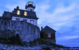 Розовый маяк острова Стоковые Фотографии RF
