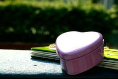 Розовый металл сердца Стоковое Фото
