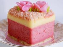 Розовый мягкий торт Стоковая Фотография