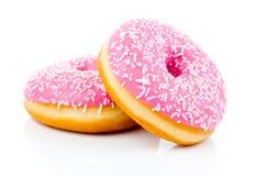 Розовый донут стоковое изображение