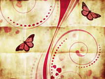 Розовый орнамент свирли на бумаге Стоковое Изображение RF