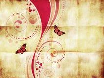 Розовый орнамент свирли на бумаге иллюстрация штока