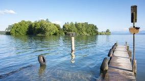 Розовый остров короля Ludwig II Стоковое фото RF