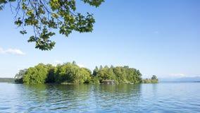 Розовый остров короля Ludwig II Стоковое Изображение RF