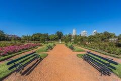 Розовый парк на древесинах Палермо в Буэносе-Айрес. Стоковые Фотографии RF