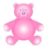 Розовый плюшевый медвежонок иллюстрация вектора