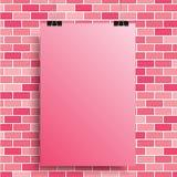 Розовый плакат на розовой стене 10 eps Стоковое Изображение