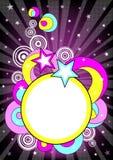 Розовый плакат партии с местом для текста иллюстрация вектора