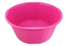 Розовый пластичный изолированный таз Стоковая Фотография