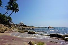 Розовый пляж в Шри-Ланке Стоковые Фотографии RF