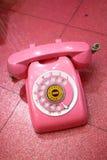 розовый ретро телефон Стоковые Фото