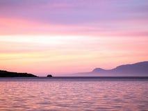 Розовый свет рассвета стоковое фото