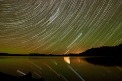 Розовый след звезды озера Стоковая Фотография RF