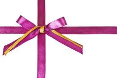 Розовый смычок с тесемками Стоковые Изображения RF
