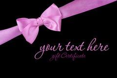 Розовый смычок Стоковое Фото