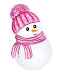 розовый снеговик Стоковые Изображения