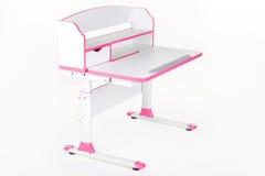 Розовый стол школы Стоковое фото RF